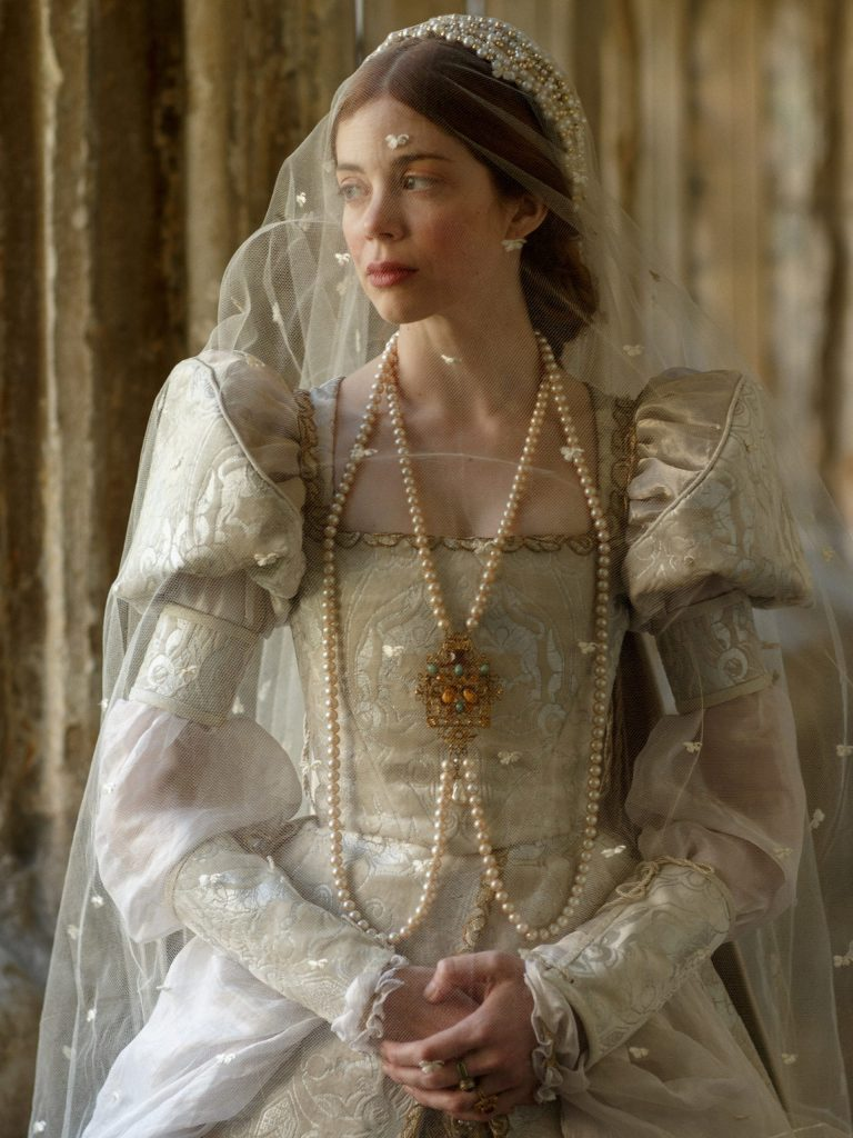 Catherine of Aragon in her wedding dress, from The Spanish Princess