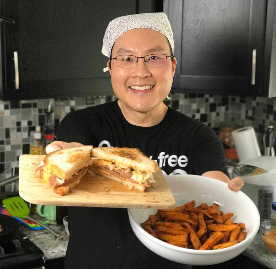 LBL Ted Lai with Reuben Sandwich 6:15:17