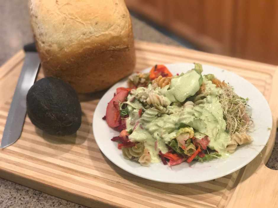 Lawrence Sisters Salad with Lemon Mint Dressing