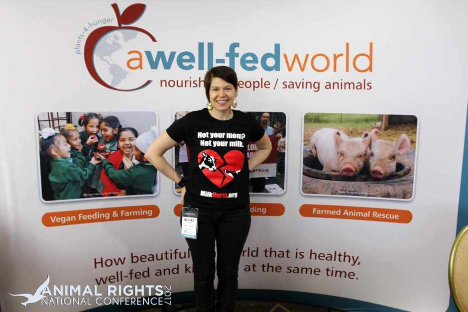 Ashley Capps at A Well-Fed World's Booth at AR2017