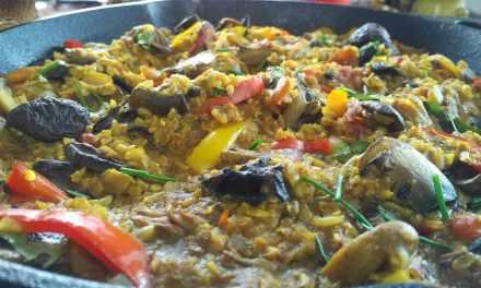 Mushroom Brown Rice Paella