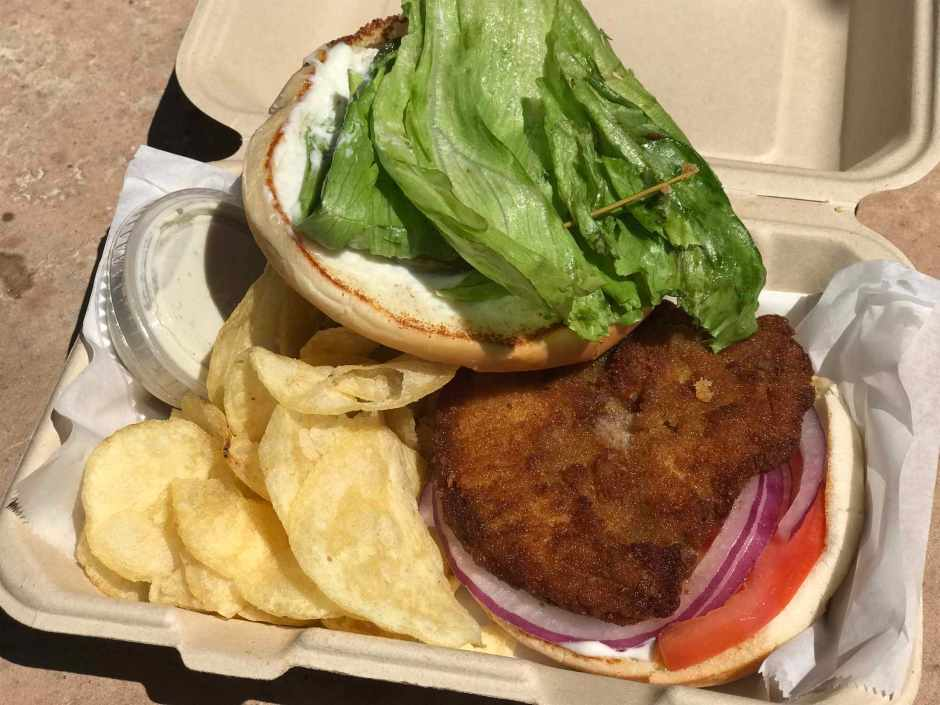 Word of Mouth Fried Chicken Sandwich