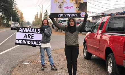 Seattle Activists Speak Out For the Voiceless Outside Livestock Auction