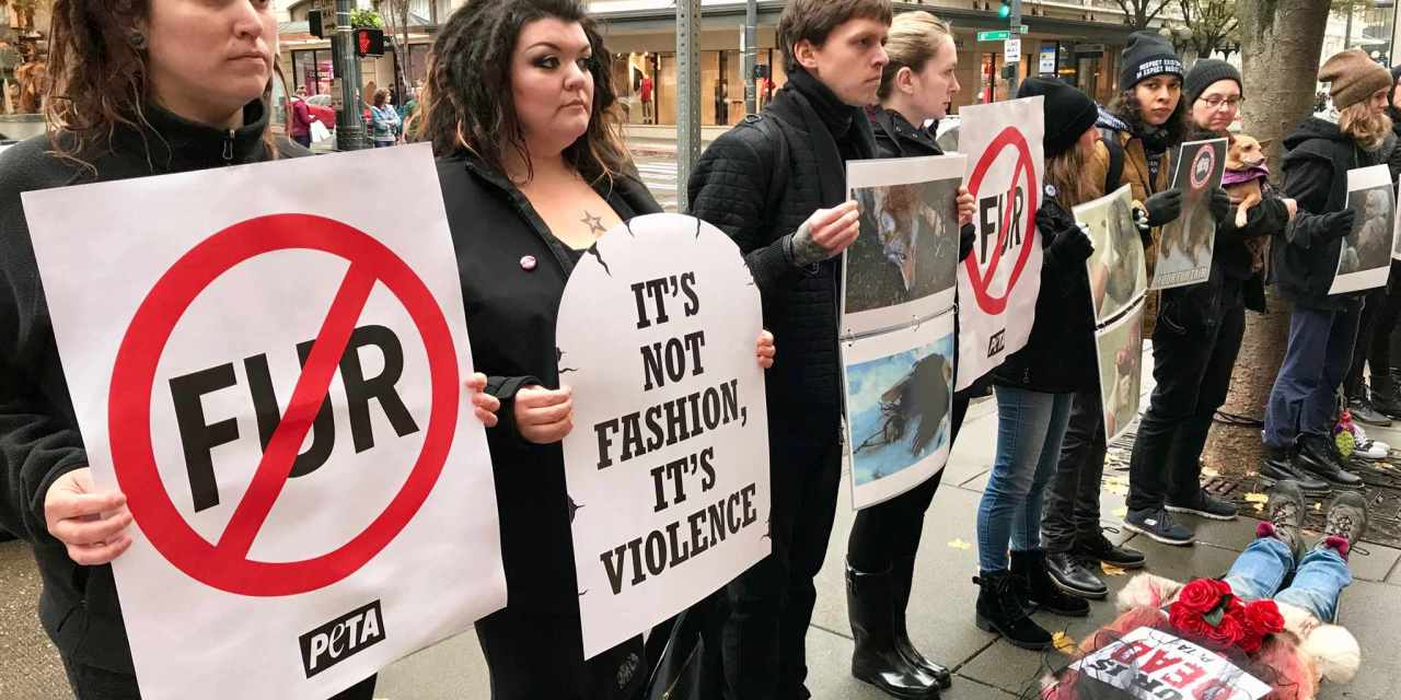 "Activists Stage ""Funeral"" For The Victims Of The Fur Trade"