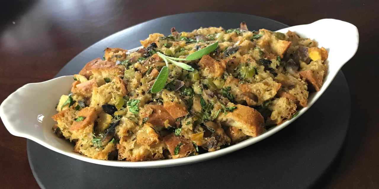 Roasted Chestnut & Ciabatta Stuffing from The 40-Year-Old Vegan