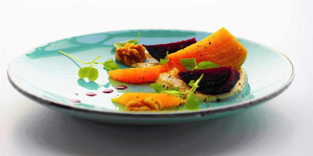 Roasted Beets with Orange Macadamia Ricotta