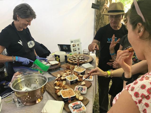 VegOut vegan festival Portland Miyokos cheese sampling mozzarella