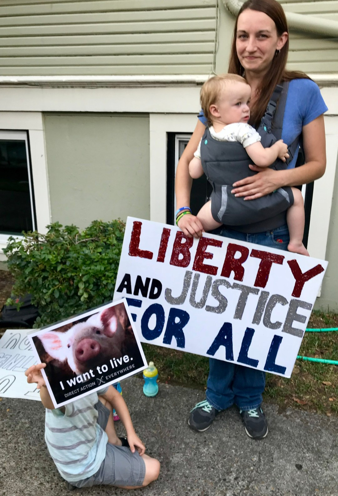 High on a Hog pig roast happy pigs piglet liberty justice vegan kids
