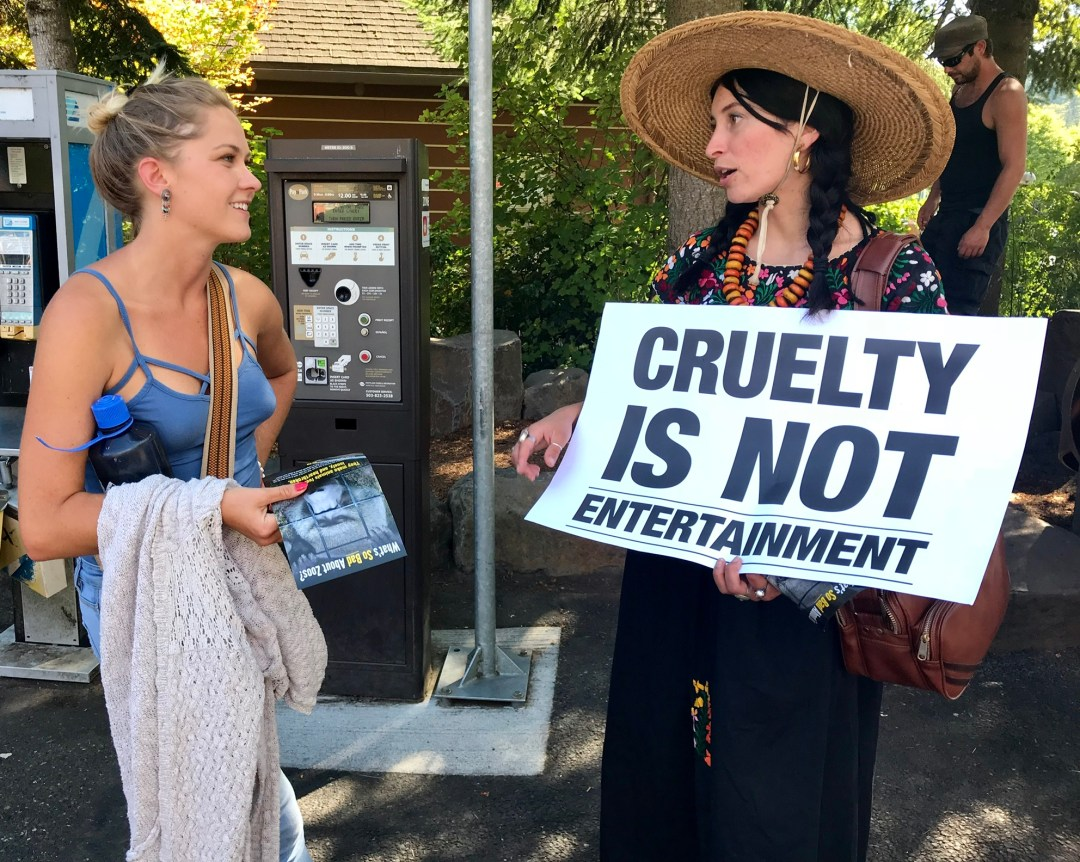 captivity kills Portland Animal Save Free the Oregon Zoo Elephants protest cruelty is not entertainment