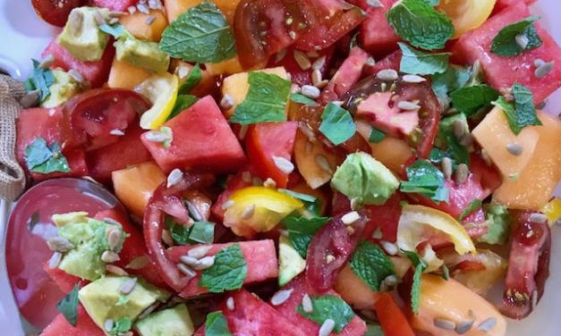 Hot Outside? Refresh with a Watermelon Delight Salad!
