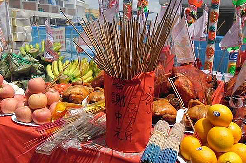 Food offerings during Ghost Month