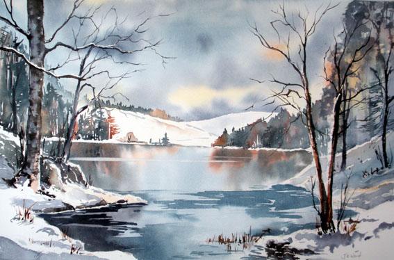 Tarn Hows in winter  Jane Ward Artist