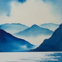 Ullswater Blues Original watercolour painting