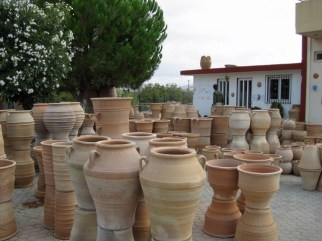A pottery in Thrapsano where large pots are produced