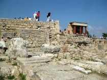 Part of the ruins of Knossos.