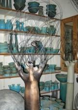 A famous potter's studio