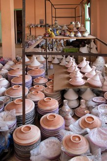 Fired and unfired pots.