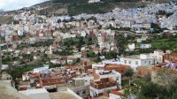The magical city of Chefchaouen, where the houses are painted blue.