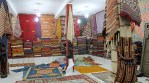 Carpet showroom near Zagora. We bought wonderful authentic Berber carpets here.