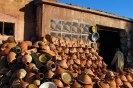 Roadside pottery on the way from Ouarzazate to Marrakech.