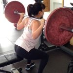Jane Yee doing squat exercise at The Active Lifestyle