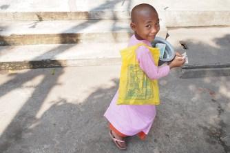 Novice nun, Yangon, Myanmar