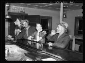 Russell Lee: Saturday night in a saloon. Craigville, Minnesota. 1937.