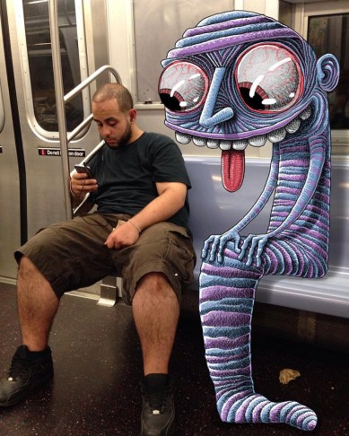 monsters-of-the-new-york-city-subway-doodle-unsuspecting-subway-riders-designboom-012