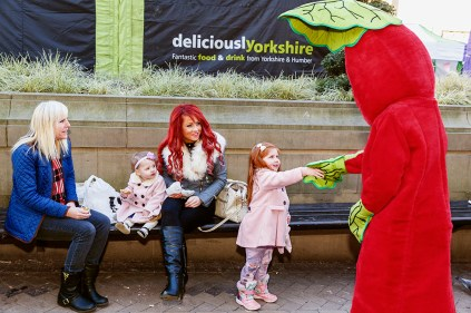GB. England. West Yorkshire. Wakefield. Rhubarb Festival. The Rhubarb Triangle. 2015.