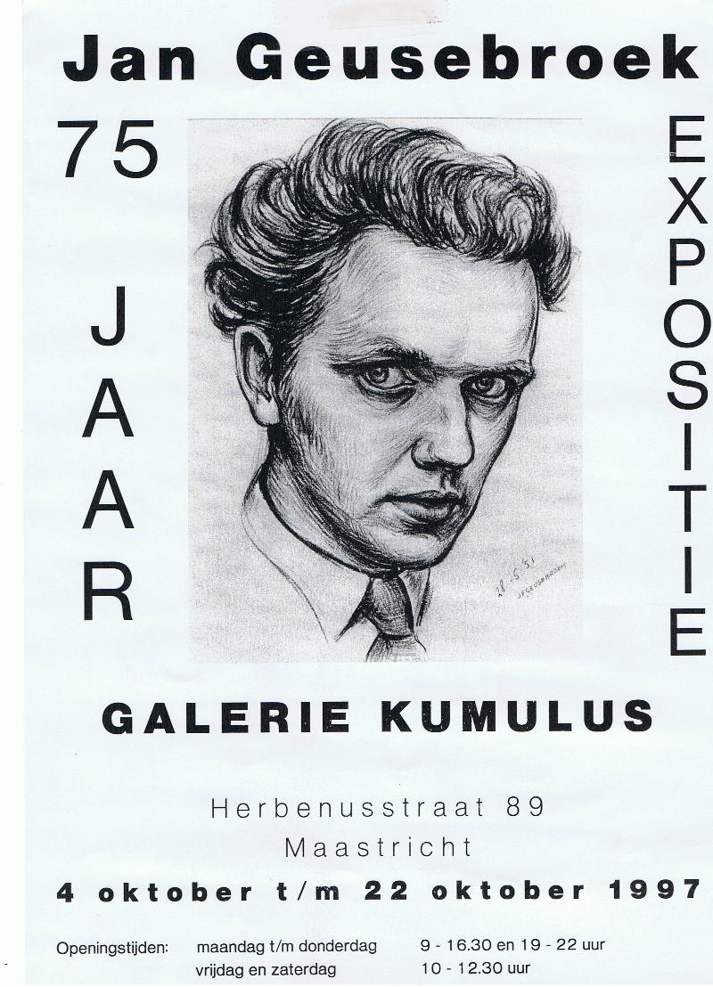 Affiche Jan Geusebroek 75 jaar