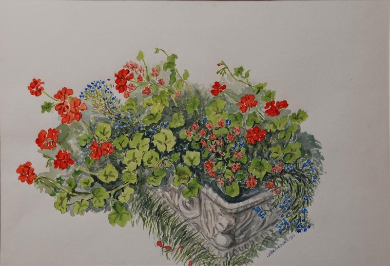 Geraniums 1994 door Jan Geusebroek (257)