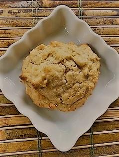 drop biscuit in quare dish