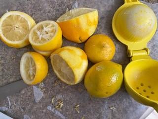 lemon mousse requires plenty of fresh lemons for juice