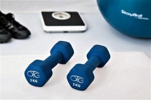 2kg weights, blue