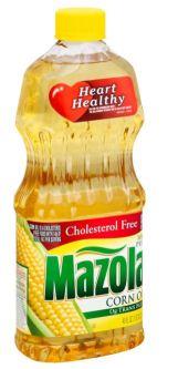 bottle of Mazola corn oil