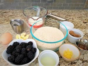 Ingredients for Blackberry scones