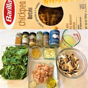 Ingredients used in Creamy Coconut Chicken Curry