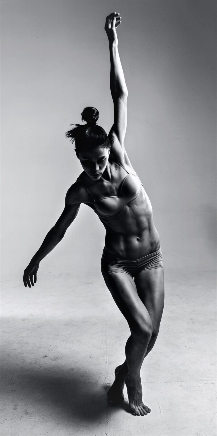 dancer in black and white