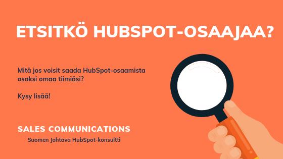 HubSpot osaaja ja HubSpot konsultti