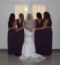 Bridal party backs