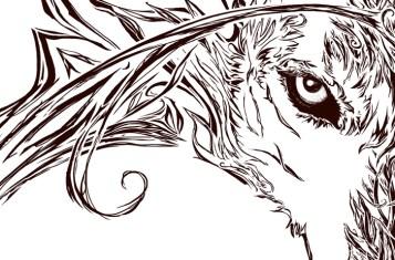 Fire Wolf, work in progress