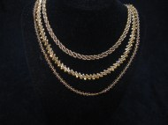 """3 """"Poor Man's Gold"""" Chains"""