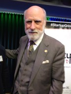 Internet Founding Father and Google's VP/ Chief Internet Evangelist, Vint Cerf, brings warm, personal style to great substance