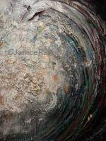 Golden Spiral Wave acrylic latex mixed media 49 x 61 inches ©Janice Rafael