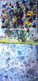 What's Beneath Acrylic on Canvas 18.5x38.75 inch 2015 ©Janice Rafael