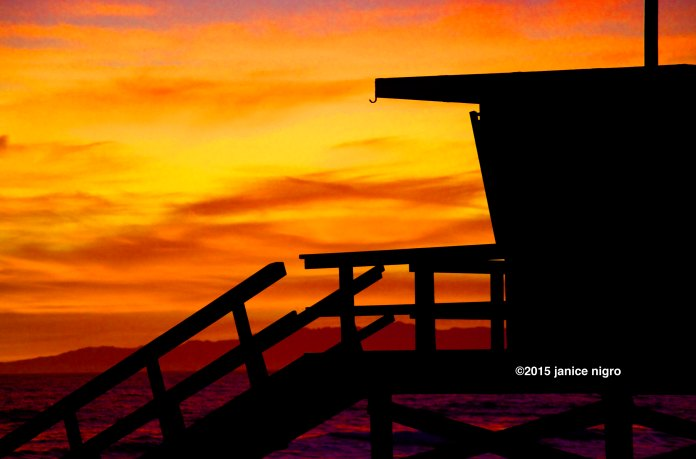 hermosa beach sunset blown out 2 brighter yellow 1369 copyright