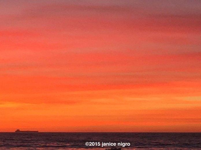 tanker at sunset 3526 copyright