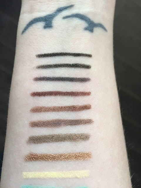 Make Up For Ever Aqua XL Eye Pencil Swatches