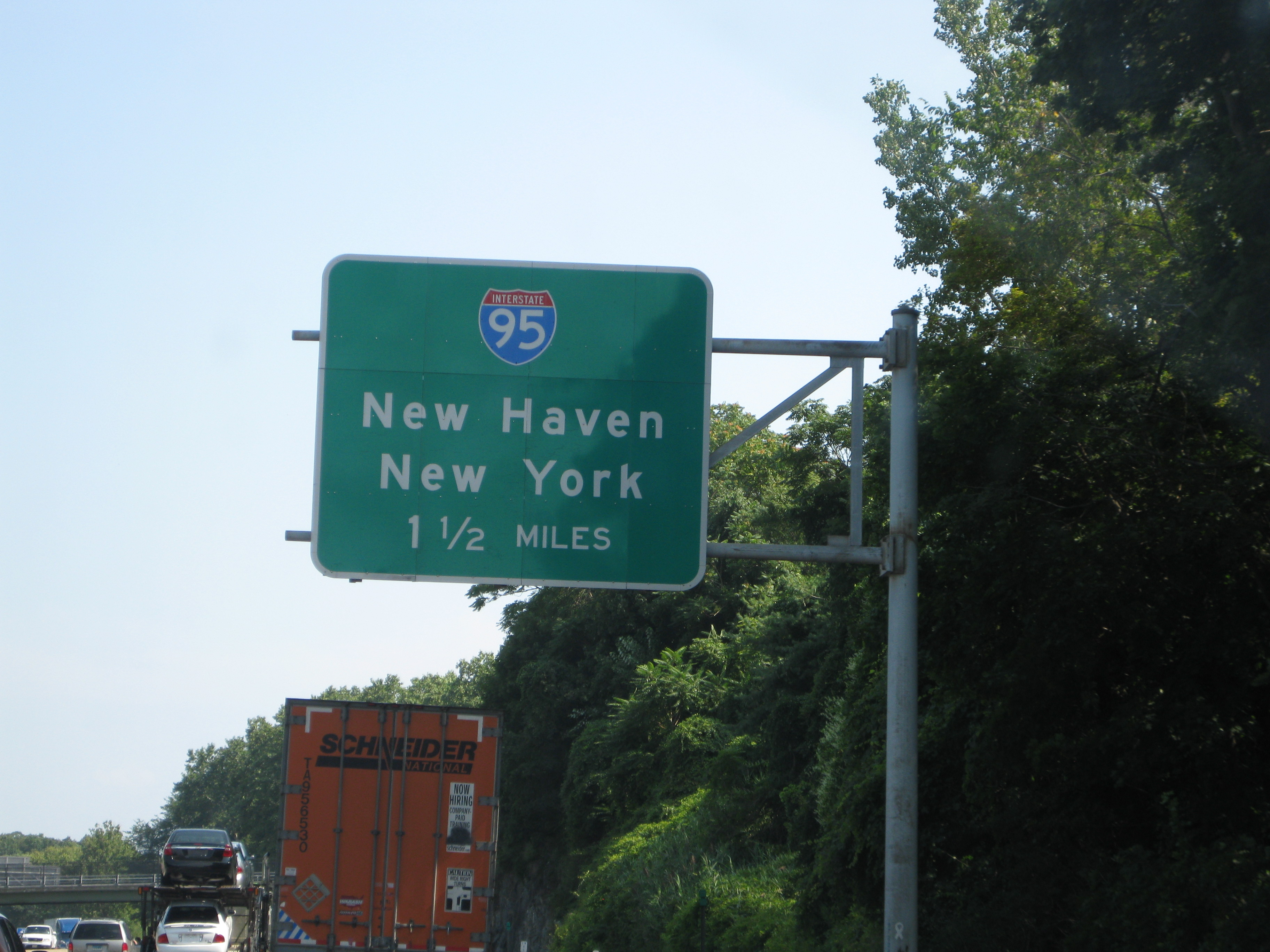 Right after crossing the Hudson River, we swung north for the last leg of the trip and arrived on 8/19.