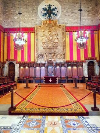 The courtroom of the Casa de la Ciutat
